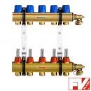 """FV-Plast Коллекторная система 1""""ВВх5 с расходомерами"""