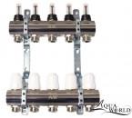 "Aqua-World Коллектор ТГ002-05 1""х5 с расходомерами белый"