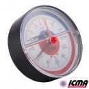 ICMA Термоманометр аксиальный с запорным клапаном 259