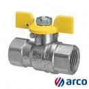 "Arco Кран шаровый 1/2"" RU002 Nickel"