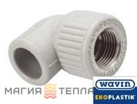 Wavin Ekoplastik  Колено 90° с металлической резьбой внутренней 25*1/2 EK