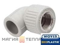 Wavin Ekoplastik  Колено 90° с металлической резьбой внутренней 25*3/4 EK