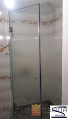 S mix 135* с распашной дверью 1800 (стекло с матовым рисунком тонированное)