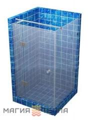 S mix 90-3 с распашной дверью 1800 (стекло с матовым рисунком тонированное)