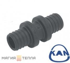 KAN-therm Соединитель двухсторонний PPSU Push 25×3,5/18×2,5
