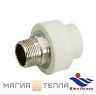 Blue Ocean Муфта шестигранная 40*1 НР BO