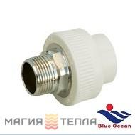 "Blue Ocean Муфта шестигранная 40x1 1/4"" НР BO"