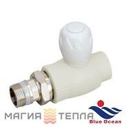 Blue Ocean Кран регулировочный радиаторный прямой  25*3/4 BO