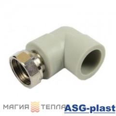 ASG-plast Колено с НГ (лат.) 20*1/2