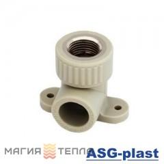 ASG-plast Колено настенное 90*ф25*1/2 ВР