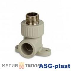 ASG-plast Колено настенное 90*ф20х1/2 НР