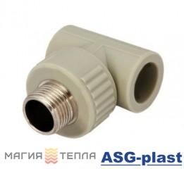 "ASG-plast Тройник с РН ф20*3/4"""