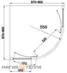Roca штора City-N Rondo 90 + поддон Malaga Rondo