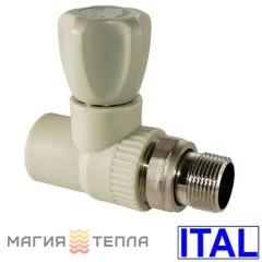 ITAL Вентиль радиаторный прямой 25