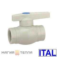 ITAL Кран шаровый пластик с РВ 20